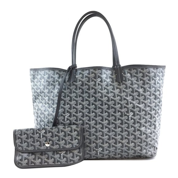 Goyard Grey St Saint Louis Pm Tote with Pochette